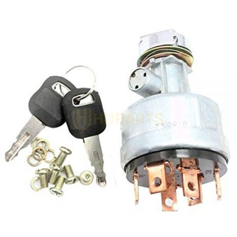 For Caterpillar Excavator CAT 307 311 312 315 317 320 Ignition Switch 6 Wires With 2 Keys 7Y-3918
