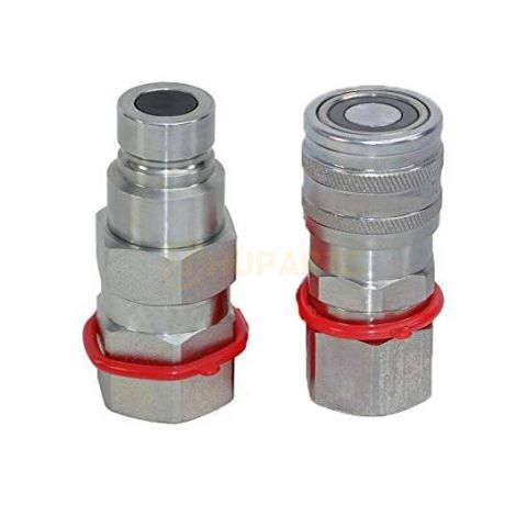 """BUY For New Holland LS140 LS150 LS160 LS170 LS180 LS185 LS190 5/8"""" SAE Flat Face Hydraulic Quick Connect Coupler Set for sale"""