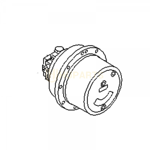 For KOMATSU PC45R-8 Travel Motor Assembly with Reduction Gearbox 20T-60-82120
