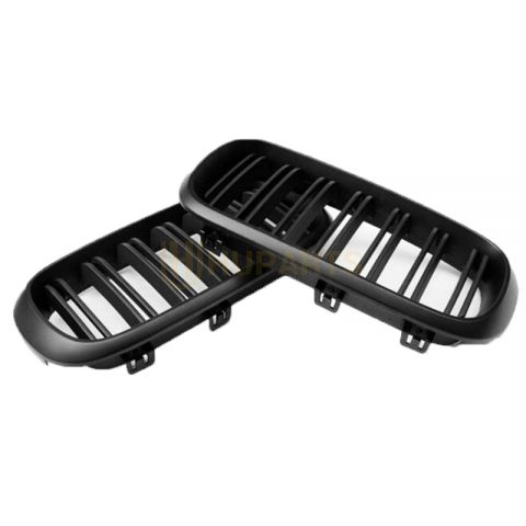 Gloss Black Dual Slats Front Kidney Grill Grille 51712334708 51712334710 for BMW F15 F16 X5 X6 2014-2018