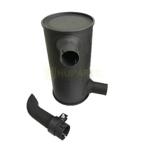 For Komatsu Excavator PC60-7 PC70-7 PC100-5 PC120-5 PC130-5 Engine 4D95 Muffler With Tail Pipe 6205-11-5220